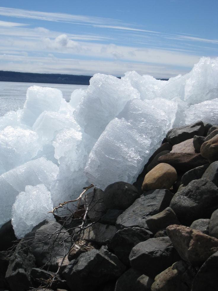Lake Superior Ice near Thunder Bay!