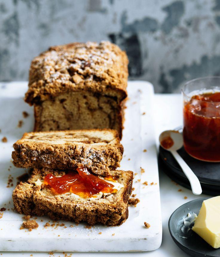 Curtis Stone's crème fraîche crumble cake with grapefruit marmalade…