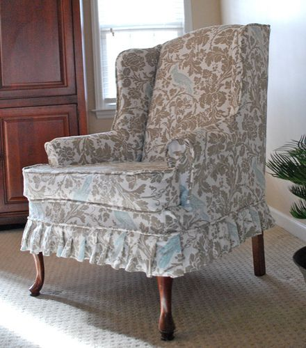floral cover for wing back chairs wing chair slipcover slipcover