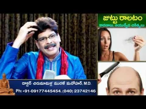 Hair Fall, Causes and Ayurvedic Treatments in Telugu by Dr. Murali Manoh...