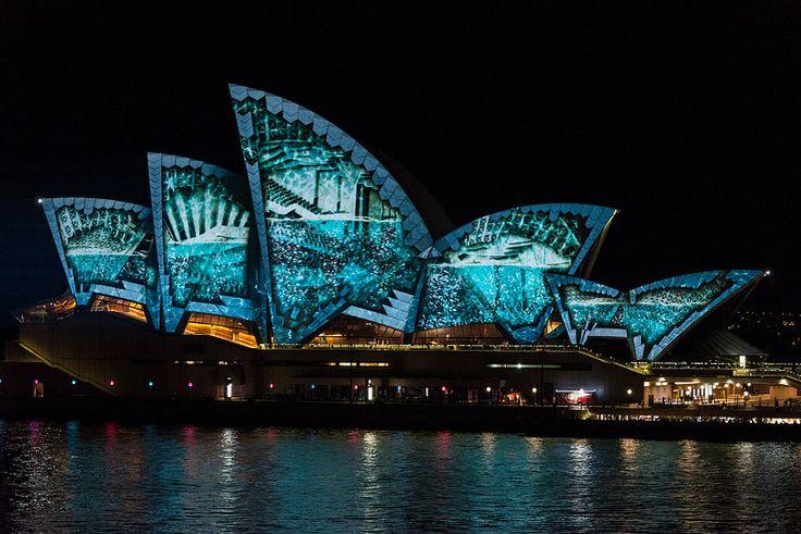 Vivid Sydney 2014 - Lighting of the Sails #vividsydney