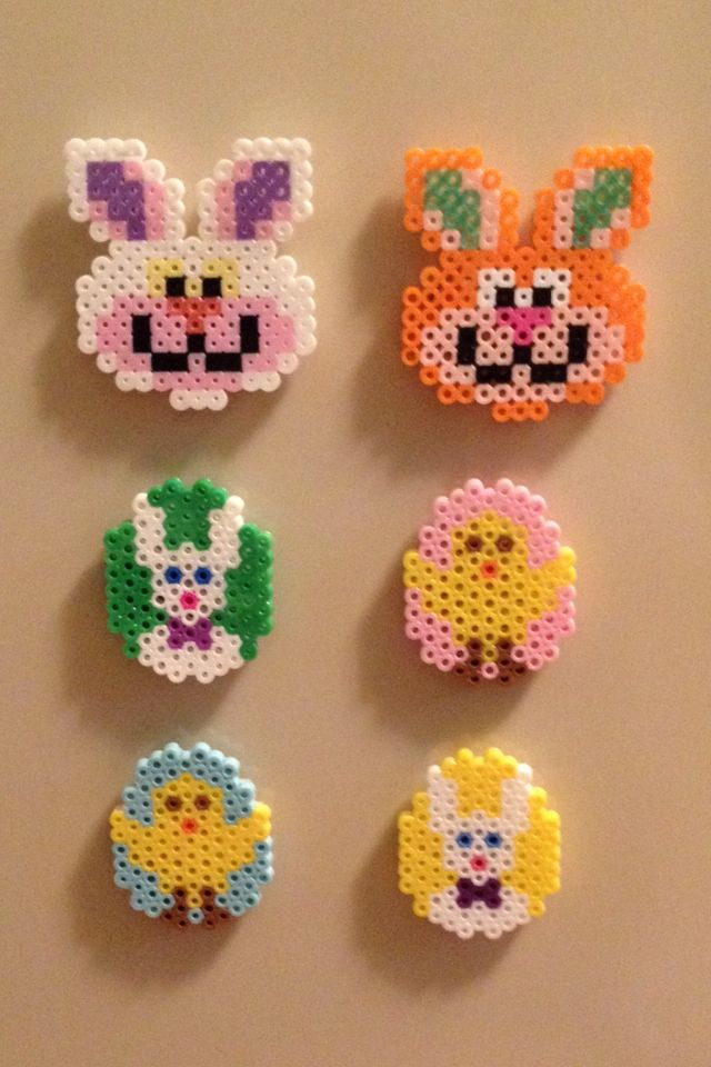 Easter perler beads magnets