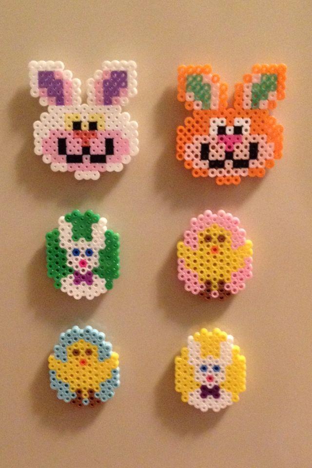 Easter perler beads magnets