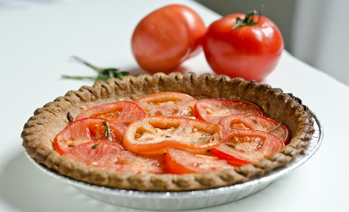 savory tart! Homemade tomato tart - perfect for summer. Gluten and ...