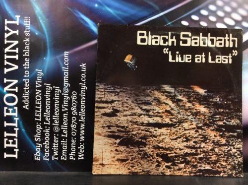 "Black Sabbath ""Live At Last"" LP Album Vinyl Record BS001 A2/B2 Heavy Metal Ozzy Music:Records:Albums/ LPs:Metal:Heavy Metal"