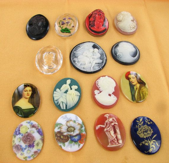 Custom Cameo Resin Pins Diy: Great For Making Your Own Jewelry. Vintage Cameo Cabochons