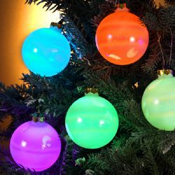 Kurt S. Adler LED Balls, Light Up Ornaments (for Inside Tree)