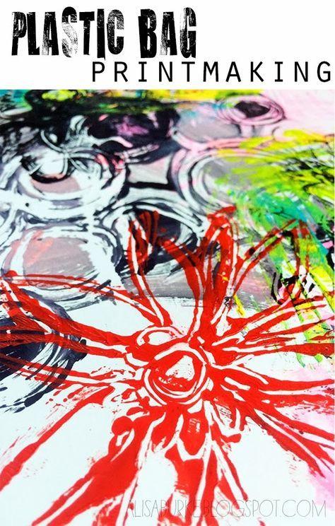 alisaburke: plastic bag printmaking
