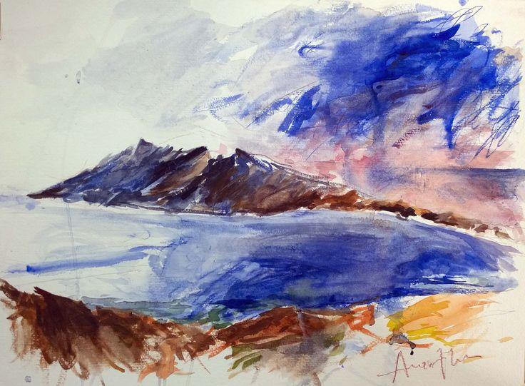 Amorgos island (watercolor on paper)