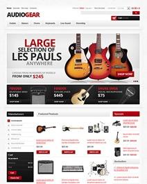 Ce template e-commerce Clicboutic peut être utilisé pour la vente en ligne d'instruments