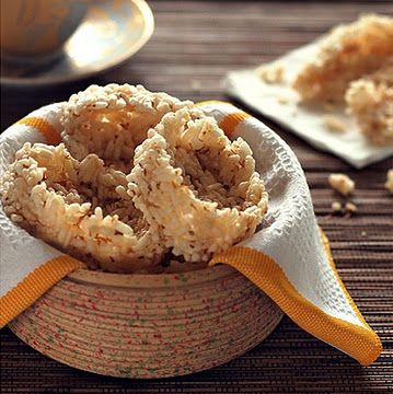 Rengginang - totally traditional snack from java  Made from rice and traditional spices
