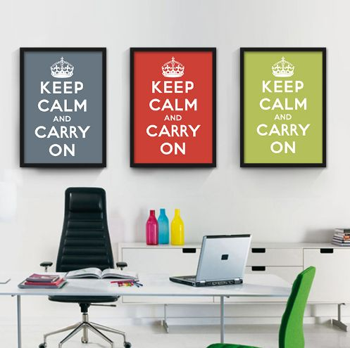 Keep Calm And Carry On Wall Print