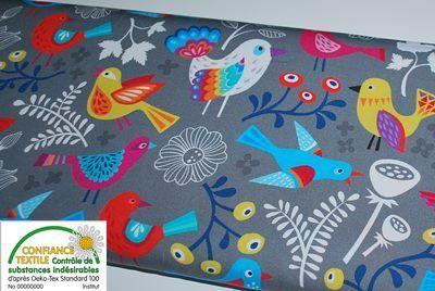 Coton oko tex Hilco design Hamburger Liebe birds of the feather - par 50 cm