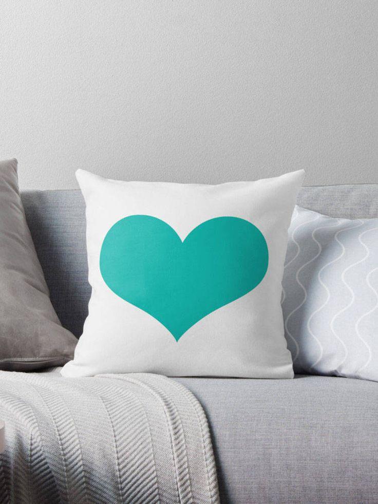 Turquoise Heart Pillow, Turquoise Pillow, Turquoise Cushion, Turquoise Bedding, Teen Decor, Turquoise Pillow Cover, Dorm Decor, Turquoise by sevenonesixdesigns on Etsy https://www.etsy.com/listing/247657798/turquoise-heart-pillow-turquoise-pillow