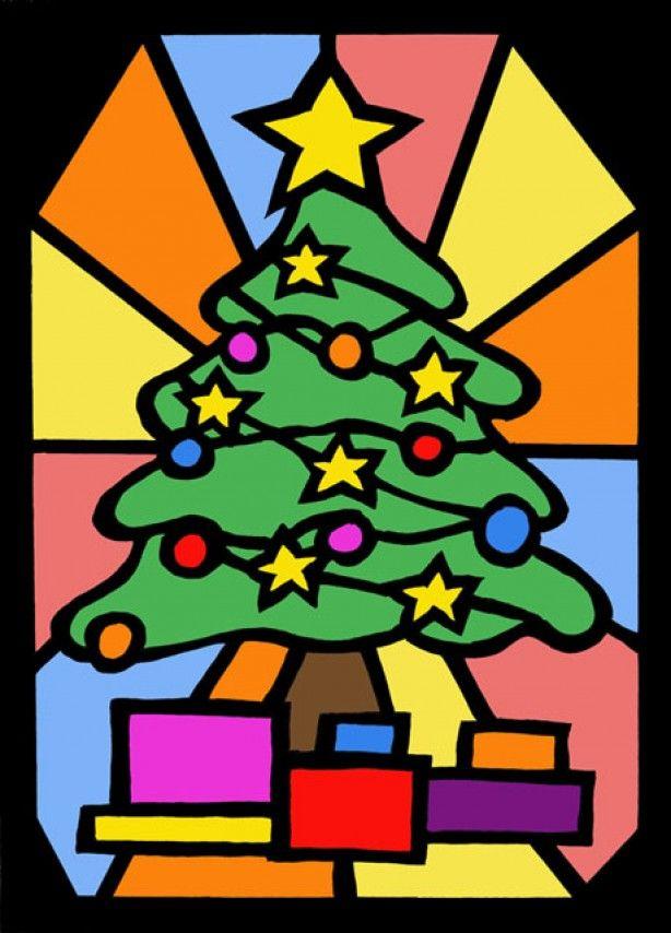 raamdecoratie voor de kerst. Leuk knutselen met de kids