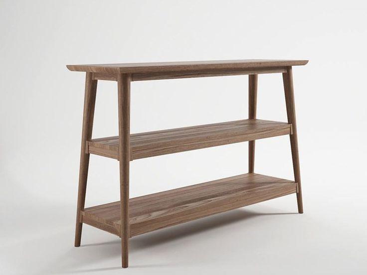 Rectangular wooden console table Vintage Collection by KARPENTER   design KARPENTER