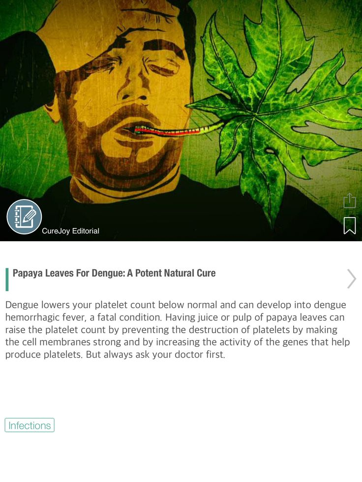 Papaya Leaves For Dengue: A Potent Natural Cure - via @CureJoy