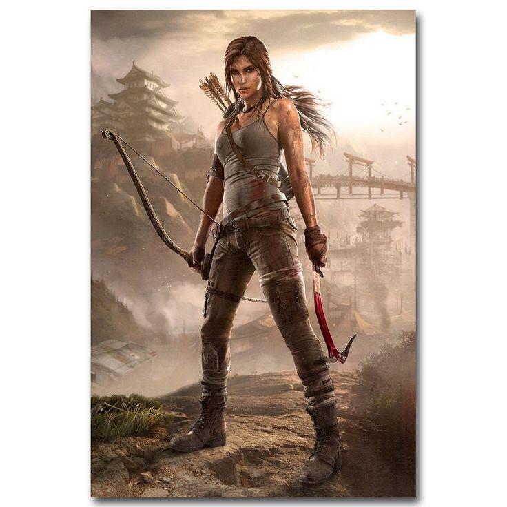 Rise Of The Tomb Raider Art Silk Fabric: Tomb Raider - Lara Croft Silk Poster