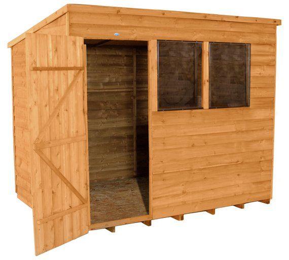 buy forest overlap 8 x 6ft pent shed at argoscouk visit