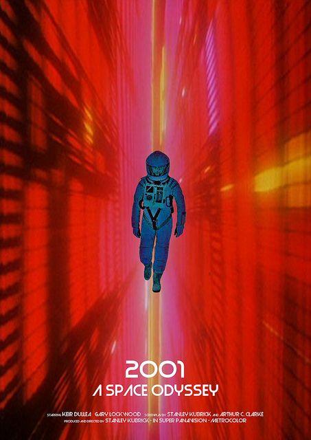 2001: A Space Odyssey (1968) - Alternative Movie Poster by Owain Wilson ~ #alternativemovieposter #owainwilson