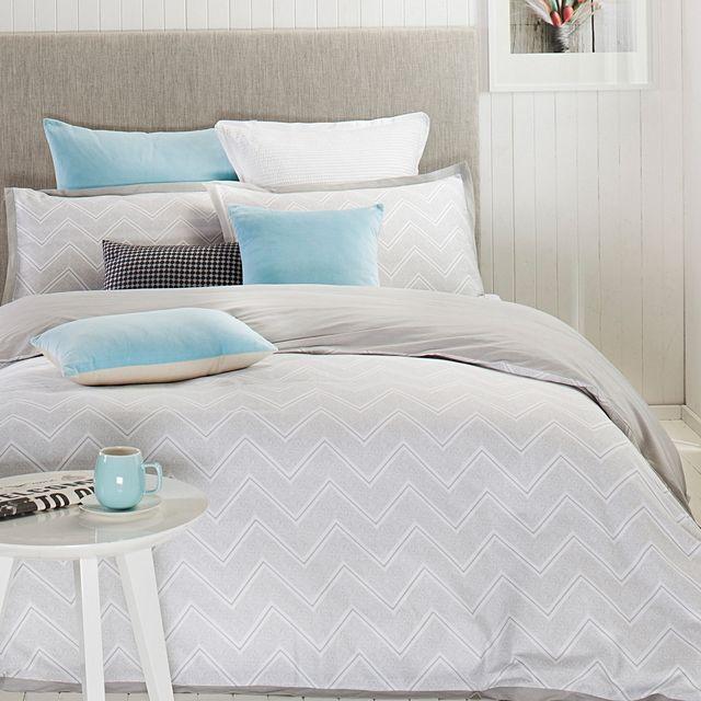 Designers Choice Asha Quilt Cover Set, Silver