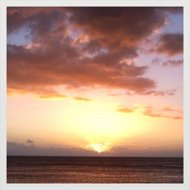 coucher de soleil à Saint-Leu  Ile de la Réunion