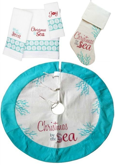 Christmas By The Sea Tree Skirt Stockings And Towels