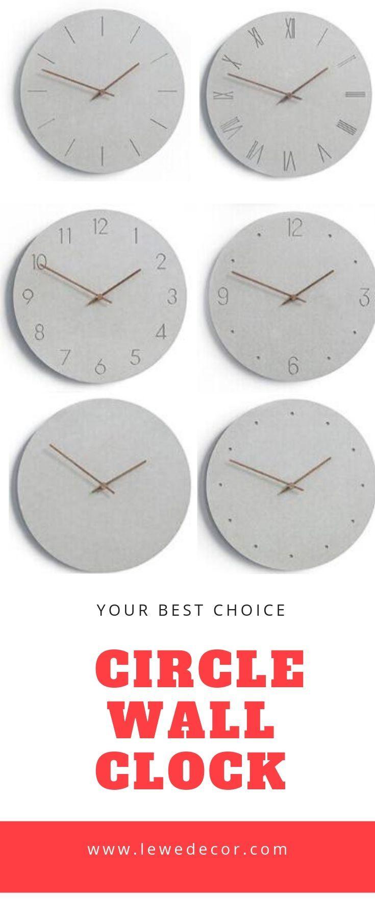 12 Inch Circle Wood Frameless Wall Clock Wall Clock Clock Wall Clock Modern