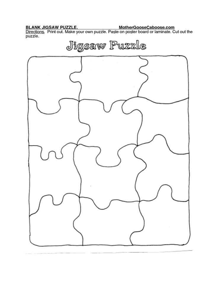 It's just a picture of Gratifying Puzzle Piece Printable