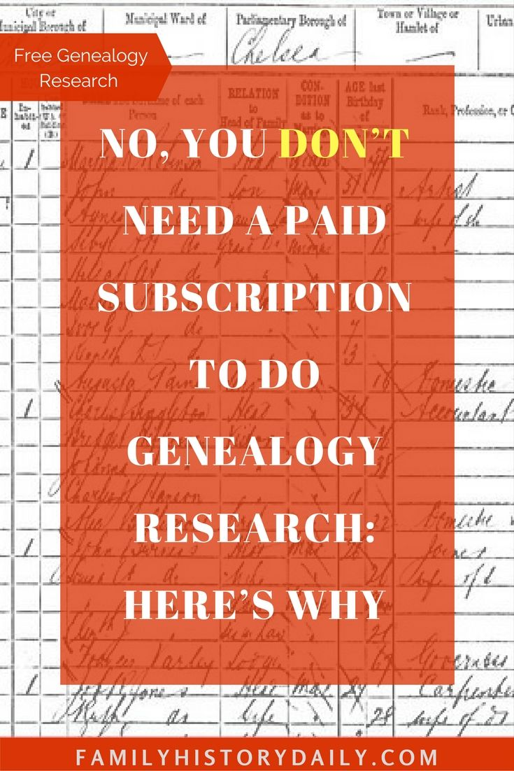 Find Out How to Research Your Family History for Free – Kimi McCall