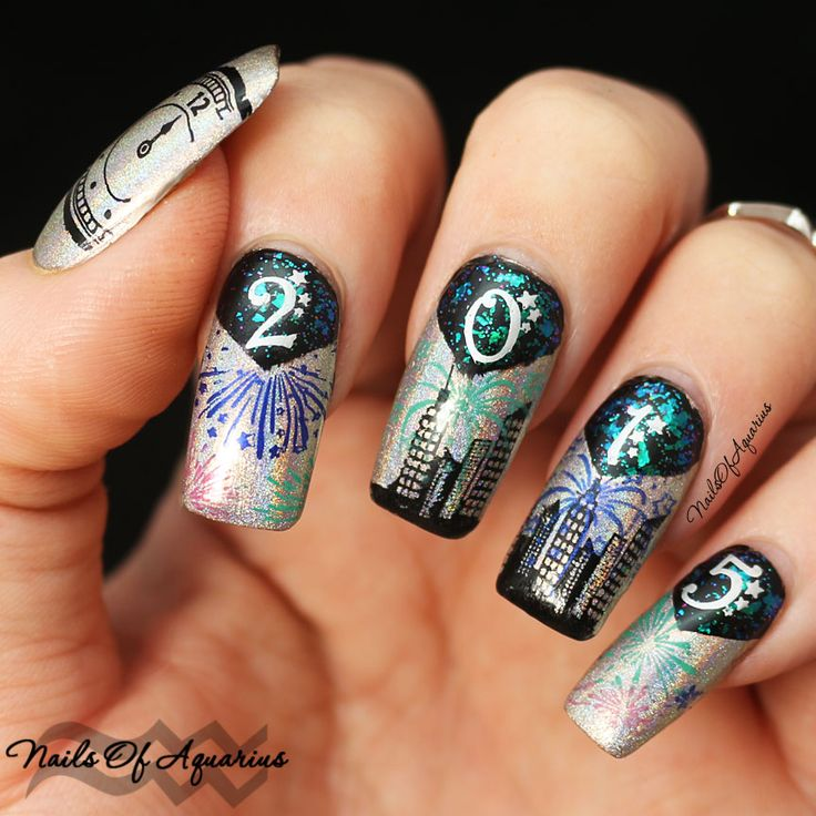 11 best New Year\'s Nail Art images on Pinterest | Gel nail varnish ...