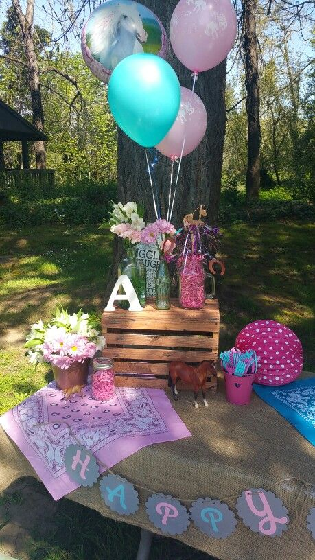 My daughters Vintage Cowgirl birthday party ♡