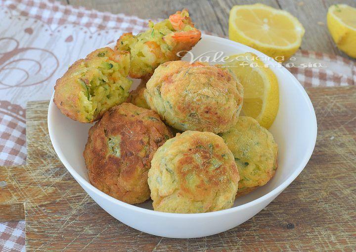Crocchette di gamberi zucchine e limone