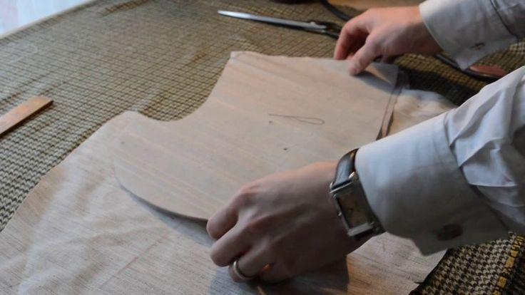 Master tailor Rory Duffy cuts and explains the internal structure elements of a handcraft bespoke suit coat.