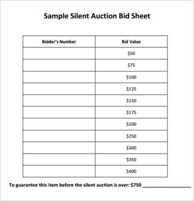 25+ beste ideeën over Silent auction bid sheet op Pinterest - Bid Sheet Template Free