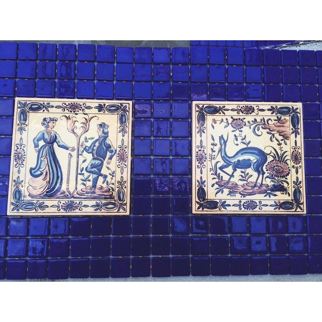 More #tiles! #azulejos #cobalt #blue #wip #hotel #interiordesign #stroganovhotel #portugal