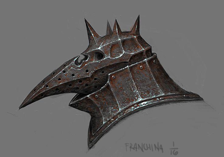 ArtStation - Plague Knight Helmet, mike franchina