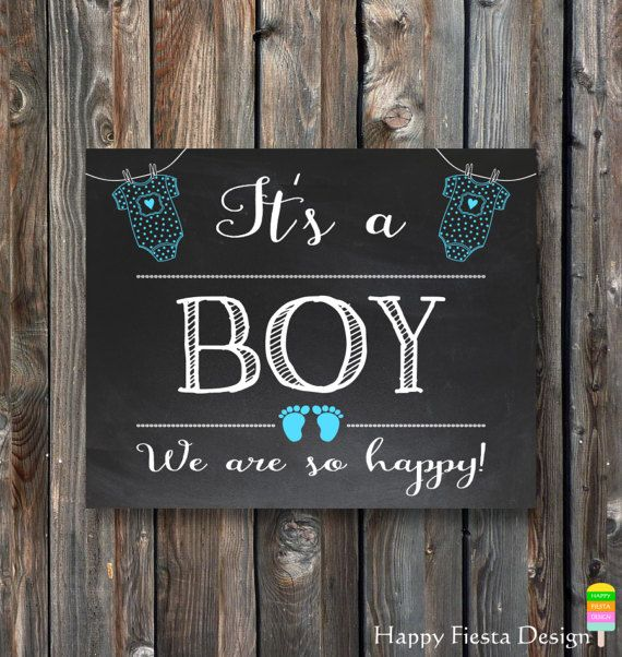 Printable Its A Boy Sign Baby Gender Reveal Chalkboard Sign Baby Gender Announcement Sign Its A B Gender Reveal Chalkboard Baby Gender Announcements Baby Signs