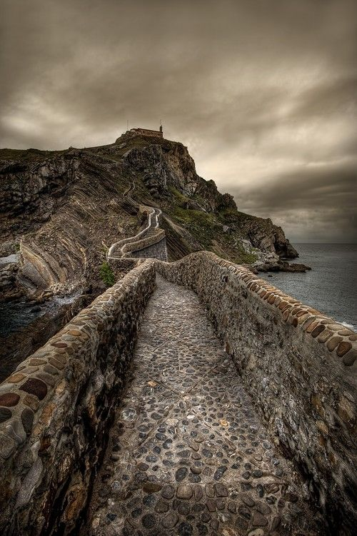 Gaztelugatxe is an islet on the coast of Biscay belonging to the municipality of Bermeo, in Basque Country, Spain