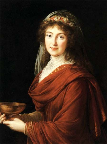 Countesse Bystry, by Vigee Le Brun. Oil on canvas. 1792