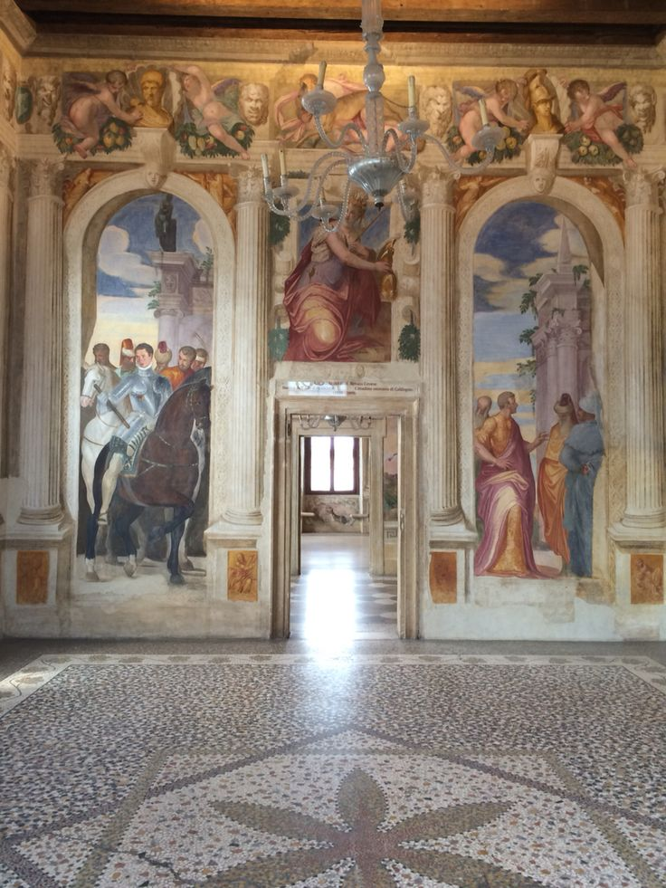 Buona Giornata ☀️☀️☀️. Stanza detta di: Scipione Villa Caldogno (Vicenza). Affreschi di G.B Zelotti.