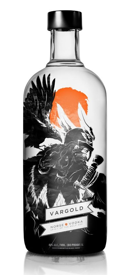 Vargold by I love dust. Awesome illustration on this #vodka #packaging PD