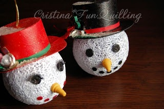 FunQuilling: Tutorial Glob Om de Zapada: Christmas Crafts, Globes Snowman, Fun Quilling, 3D Quilling, Paper Quilling, Quilling Tutorials 3D, Quilling Angel, Tutorials Glob, Quilling Snowmen