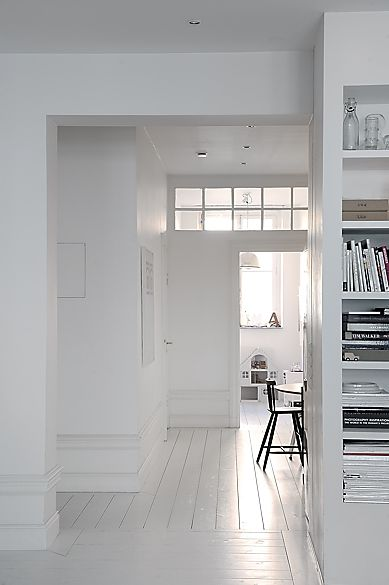 Why can't we have white floors, doors, windows... white everything?! LOVE IT.