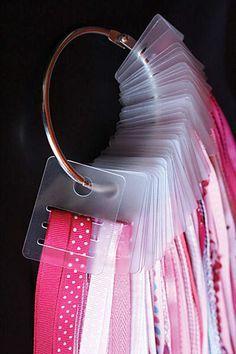 Astuce : Rangement pour les rubans, biais, passepoils et galons.