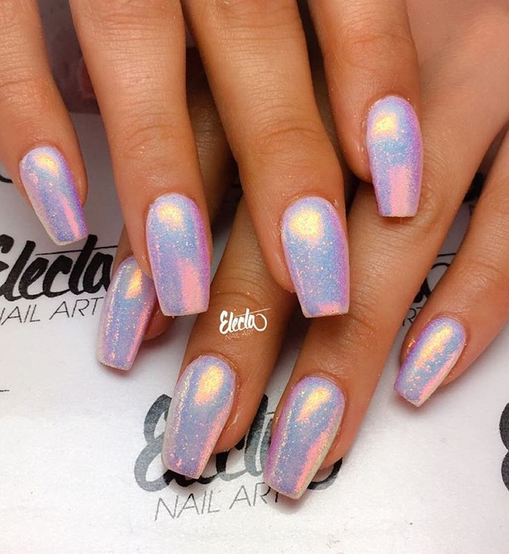 """Shiny sparkly for miss @nevensmakeuptown ✨ """"They're like Unicorns, but on nails"""" as Hannah has described them"""