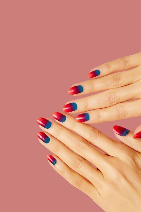 Jazz up a gradient mani with bright eye-popping colors.