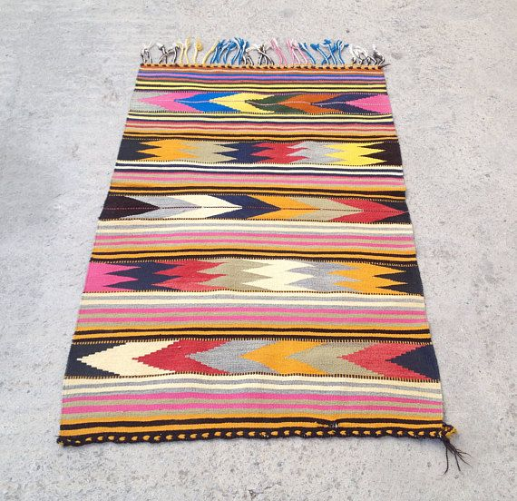 Kilims Turkish Kilim Rug Multicolored Kilim Rug Handwoven