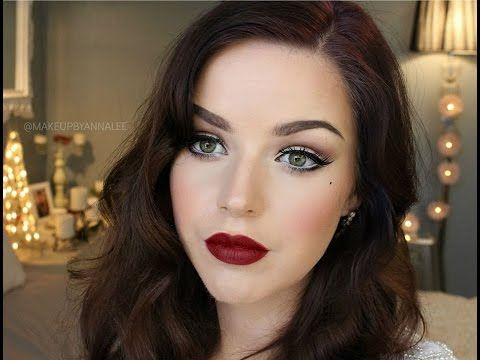 Makeup By Annalee || Old Hollywood 'Glamour' Makeup Tutorial - YouTube Love her makeup style. Glamour. Style.