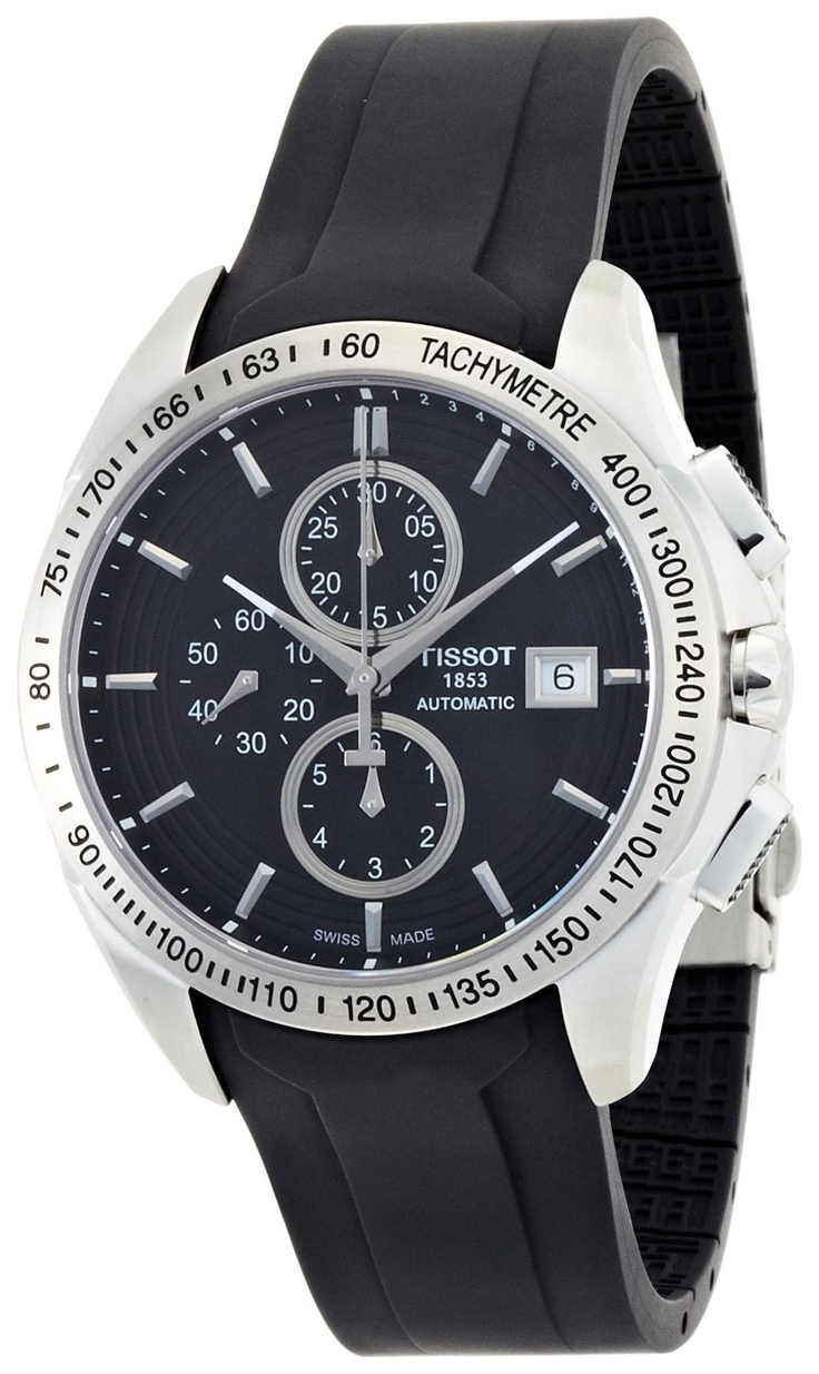 Tissot Men's Black Chronograph Dial Watch
